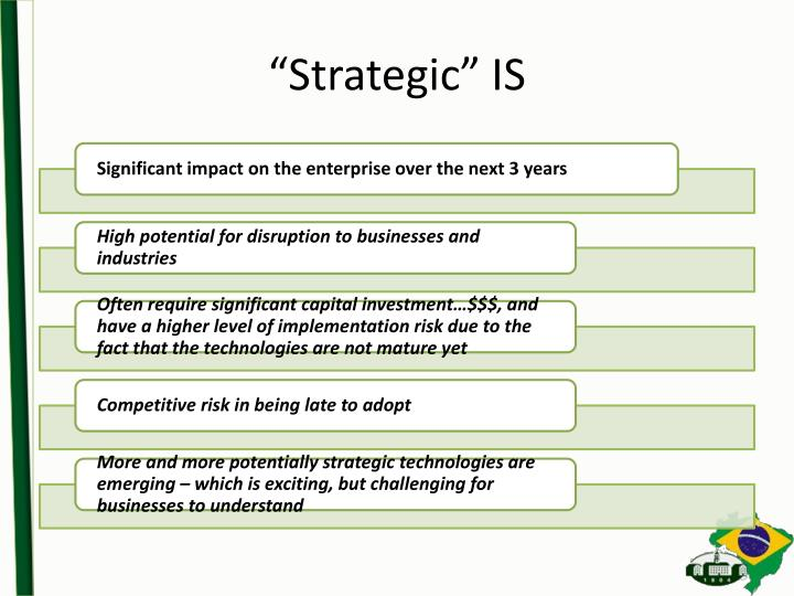 """Strategic"" IS"