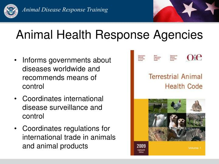 Animal Health Response Agencies