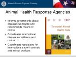 animal health response agencies