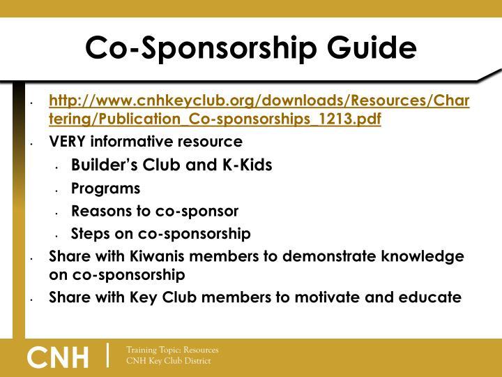 Co-Sponsorship Guide