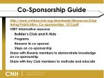 co sponsorship guide