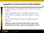 importance of good kiwanis family relations