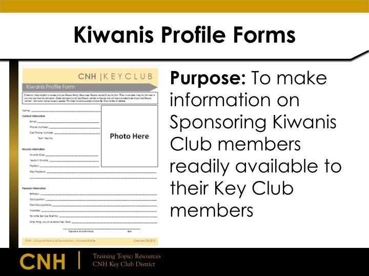 Kiwanis Profile