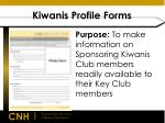 kiwanis profile forms