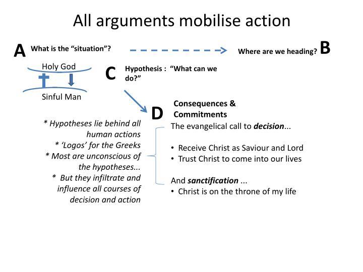 All arguments mobilise