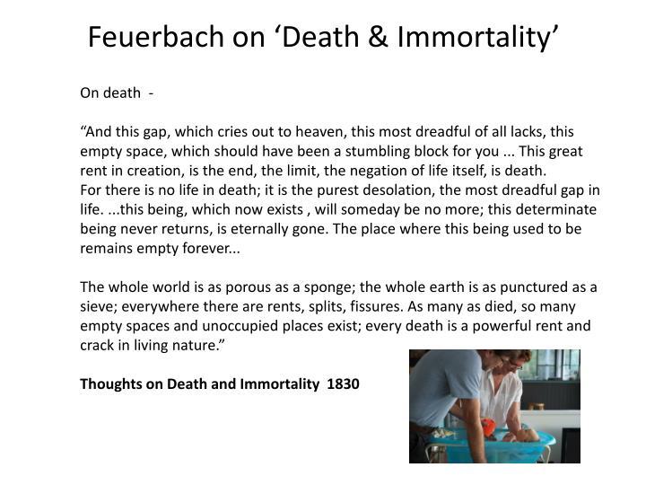 Feuerbach on 'Death & Immortality'