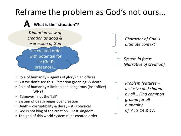 Reframe the problem