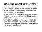 i skillfull impact measurement