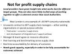not for profit supply chains