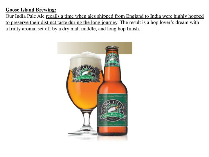Goose Island Brewing:
