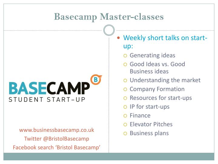 Basecamp Master-classes