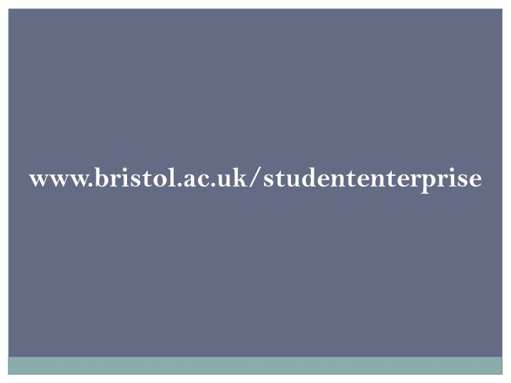 www.bristol.ac.uk/studententerprise