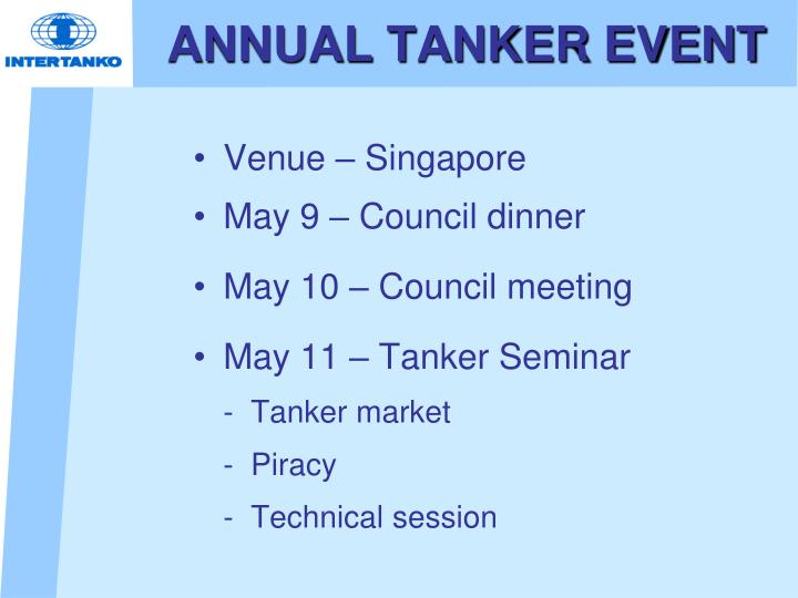 ANNUAL TANKER EVENT