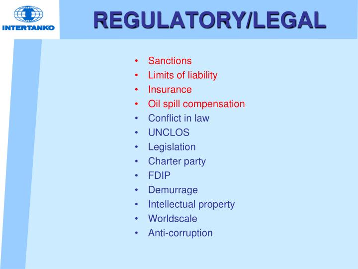 REGULATORY/LEGAL
