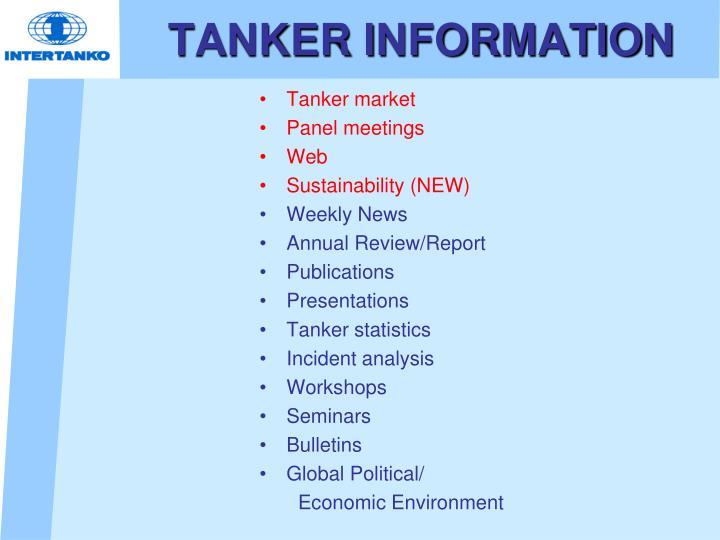 TANKER INFORMATION