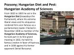 pozsony hungarian diet and pest hungarian academy of sciences