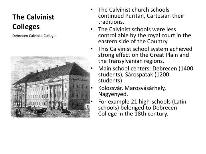 The Calvinist Colleges