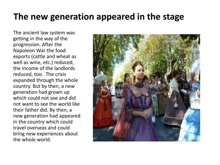 The new generation appeared in the stage
