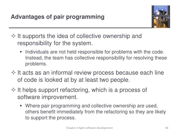 Advantages of pair programming