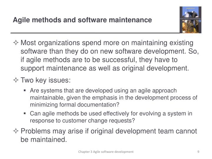 Agile methods and software maintenance