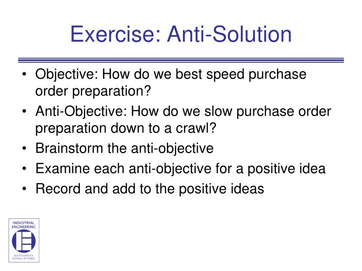 Exercise: Anti-Solution