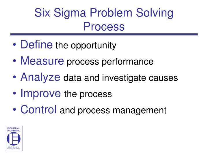 Six Sigma Problem Solving Process