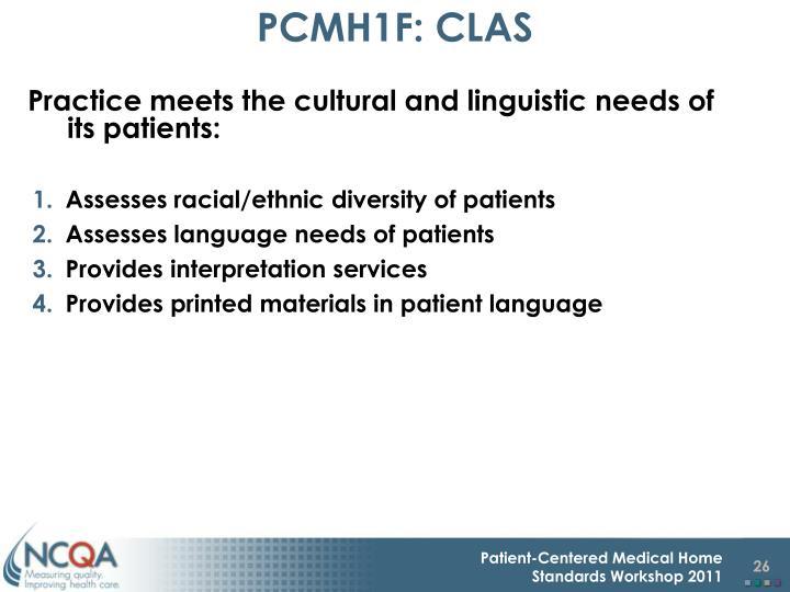 PCMH1F: CLAS