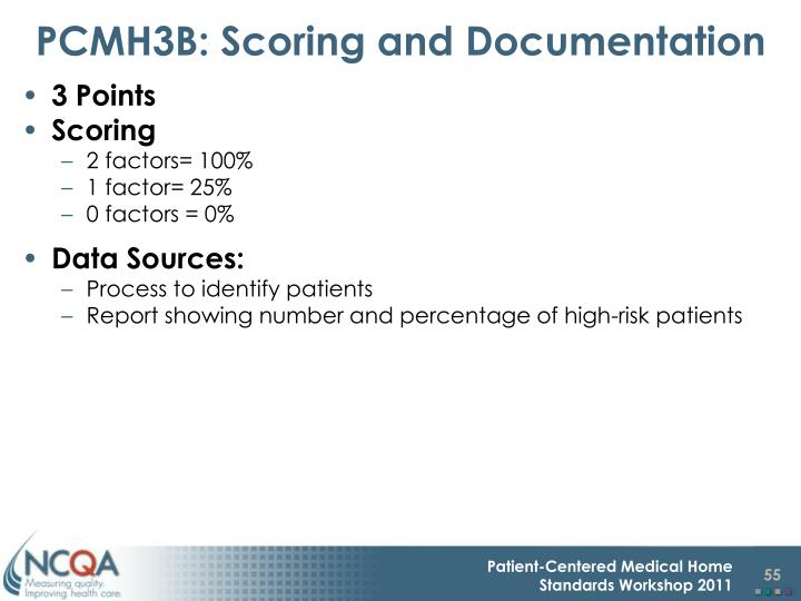 PCMH3B: Scoring and Documentation