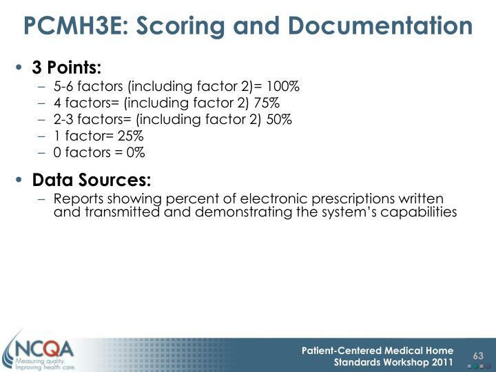 PCMH3E: Scoring and Documentation