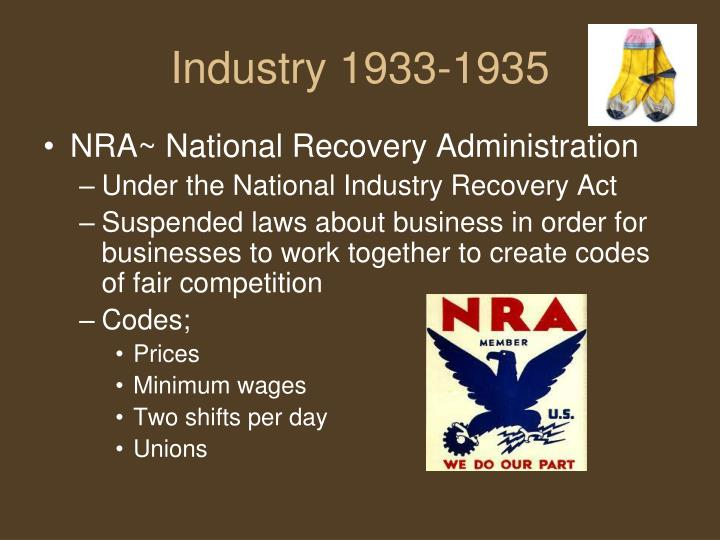 Industry 1933-1935