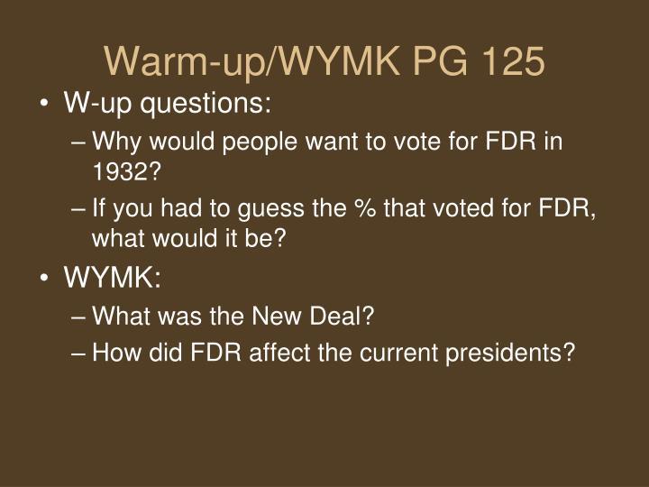 Warm-up/WYMK PG 125