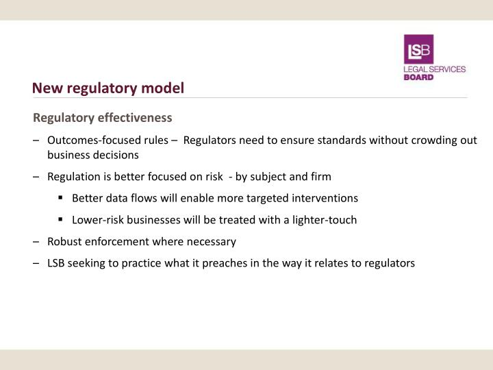 New regulatory model