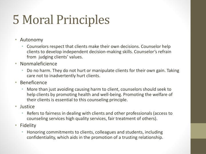 5 Moral Principles