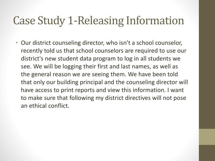 Case Study 1-Releasing Information