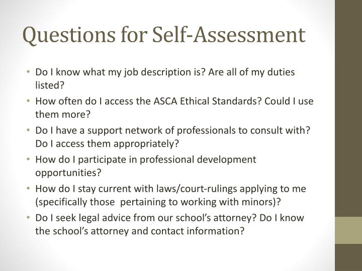 Questions for Self-Assessment