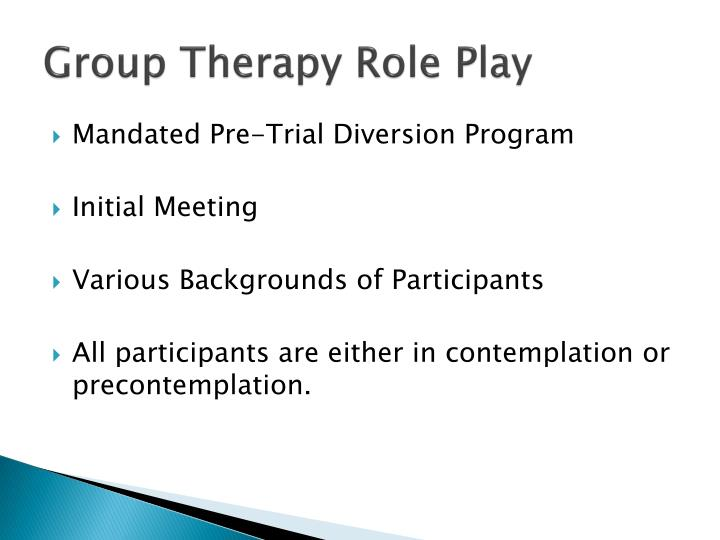 Group Therapy Role Play