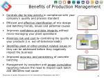 benefits of production management