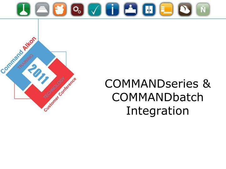 COMMANDseries & COMMANDbatch Integration