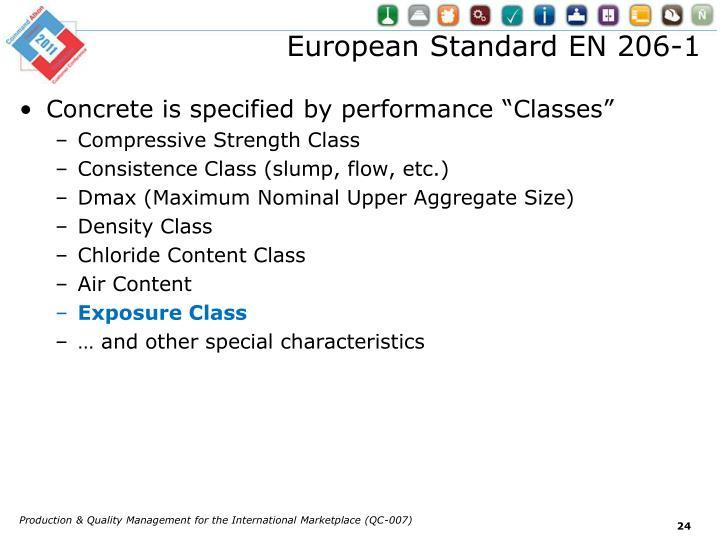 European Standard EN 206-1