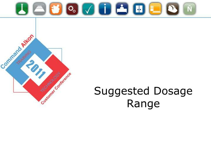 Suggested Dosage Range
