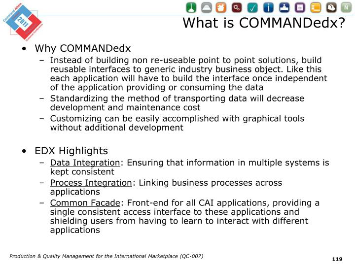 What is COMMANDedx?