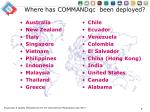 where has commandqc been deployed