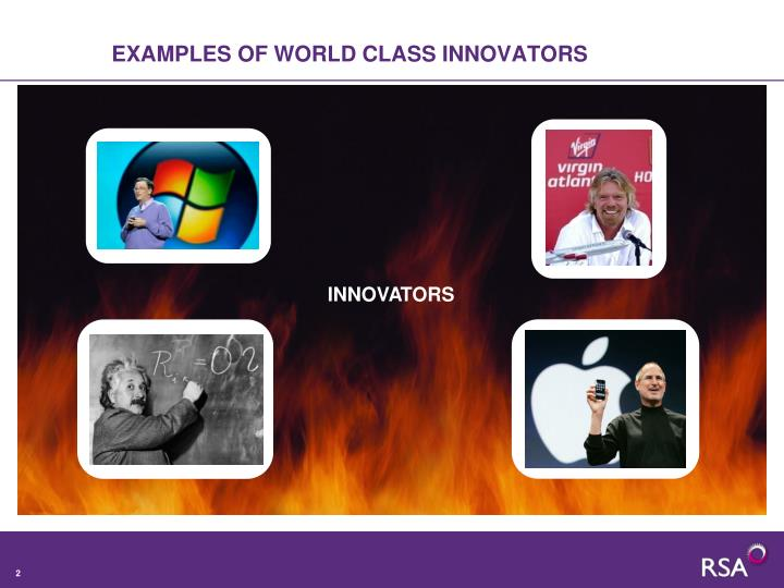 Examples of world class innovators