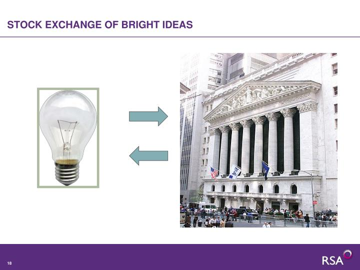 STOCK EXCHANGE OF BRIGHT IDEAS