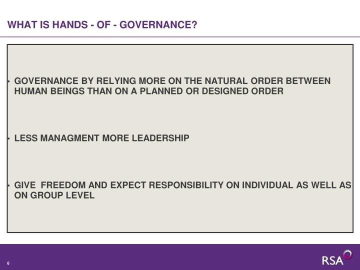 WHAT IS HANDS - OF - GOVERNANCE?