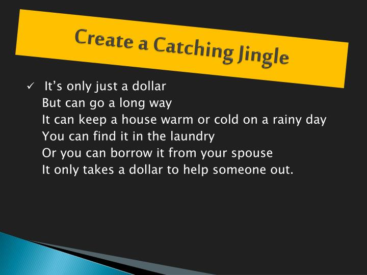 Create a Catching Jingle