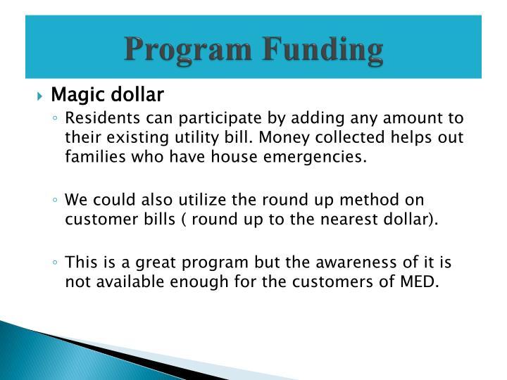 Program Funding