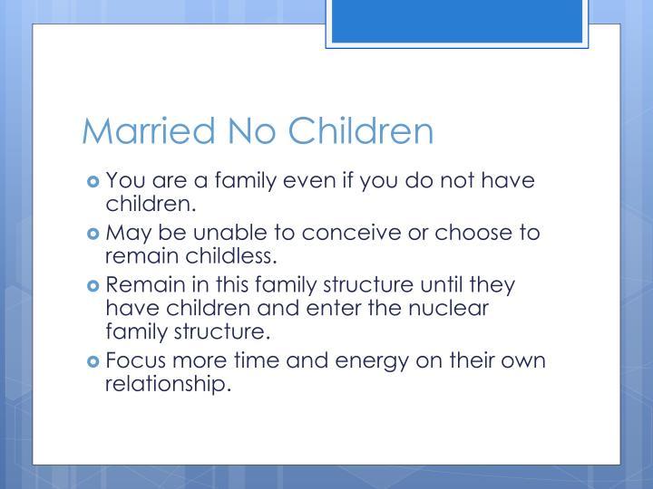 Married No Children