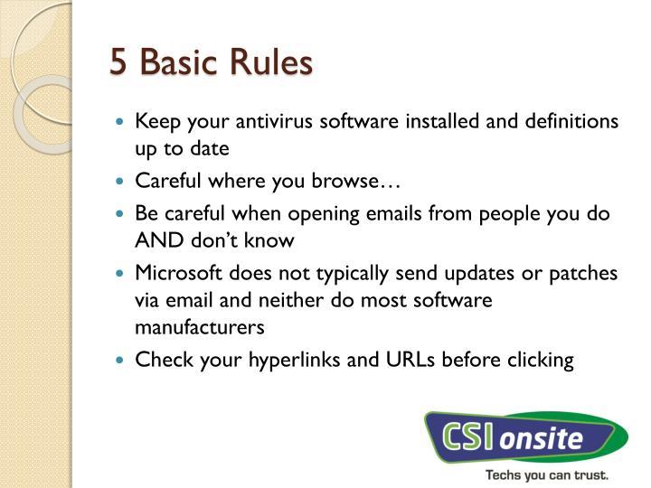 5 Basic Rules
