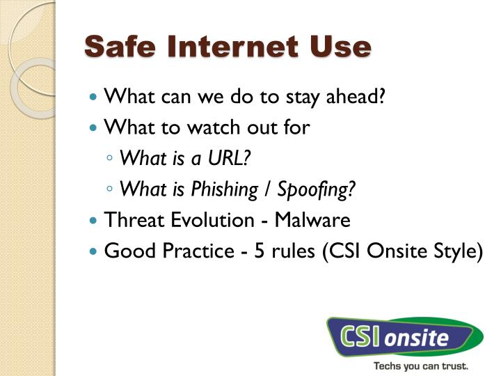 Safe internet use1